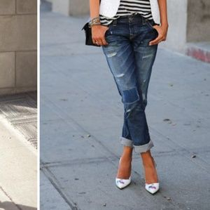 Abercrombie & Fitch Destroyed Boyfriend Jeans